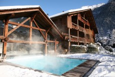 Our Indoor Outdoor Swimming Pool Facing The Mont Blanc Jacuzzi And Hammam Welcome You All Year Round Open To Spa Le Bachal Team Of