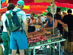 Jour de marché à Chamonix