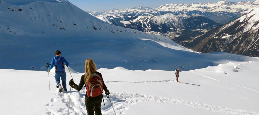 5 day snowshoe adventure around Mont Blanc