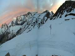 Le Tour Balme Ski Resort Webcam: Chamarillon View 1850m