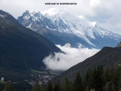 Mont Blanc and Aiguilles Chamonix Webcam View