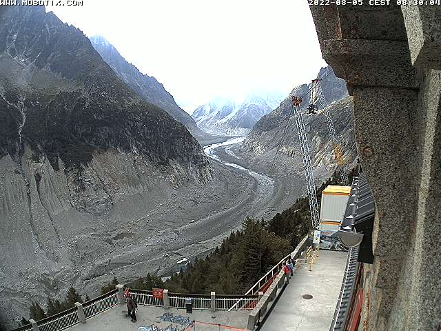 The Mer de Glace Webcam from Montenvers