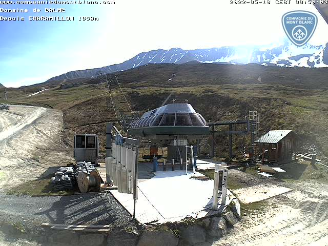 Webcam of the Le Tour / Balme / Vallorcine Ski resort in Chamonix