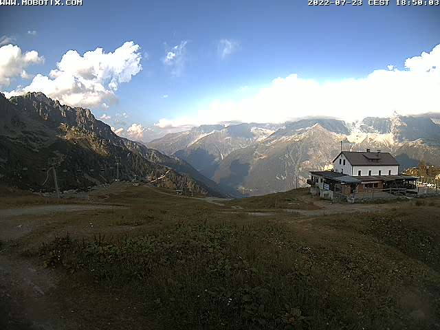 webcam Chamonix Brevent from Planpraz