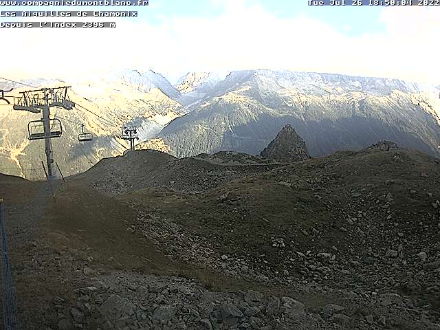 webcam Mer de glace from Index la flegere